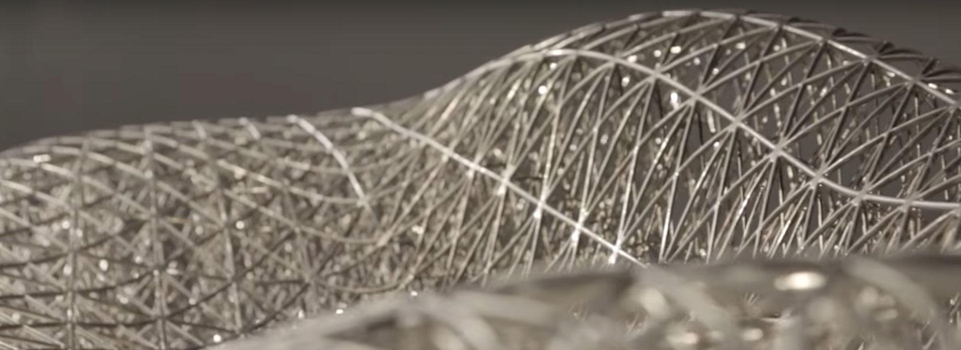 an abstract close up of metal parts made by a 3D printer